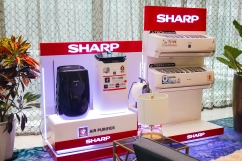 Sharp showcased their Plasmacluster Ion Technology which purifies the air with positive and negative ions, deactivates airborne mould, viruses, dust mite allergens and bacteria